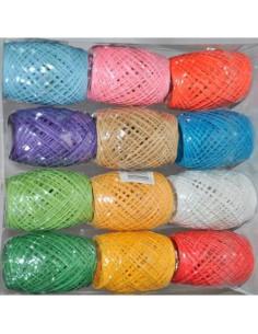 Sznurek papierowy mix kolorów 12szt  -797