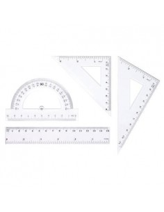 Zestaw geometryczny, linijka 15cm TETIS-1170
