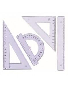 Zestaw kreślarski z linijką 16cm PRATEL-1149