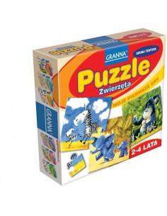 Gra puzzle ZWIERZĘTA GRANNA 2-4 lata-1457
