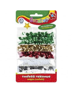 Konfetti cekinowe mix 5 kolorów ŚWIĄTECZNE ASTRA-3166
