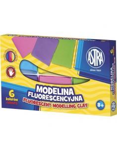 Modelina fluorescencyjna 6 kolorów  ASTRA -3194