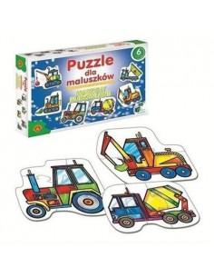 Puzzle dla maluszków MASZYNY BUDOWLANE ALEXANDER-3264