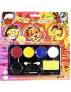 Farby do malowania twarzy 5 kolorów FA 005-5131