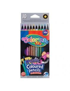 Kredki ołówkowe metaliczne 10 kolorów COLORINO -5201