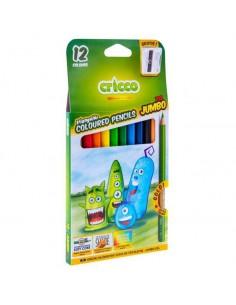 Kredki ołówkowe JUMBO z temperówką 12 kolor CRICCO-5169