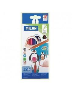 Kredki ołówkowe trójkątne 12 kolorów MILAN-5171