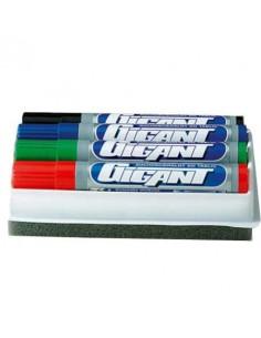 Marker suchościeralny 4 kolory  gąbka KAMET GIGANT-5244