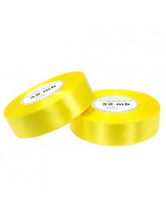 25mm WS8011 Wstążka satynowa żółta 32mb-5499