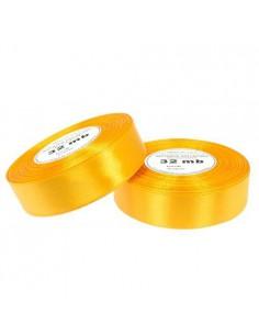 6mm WS8013 Wstążka satynowa ciemna żółta 32mb-5506