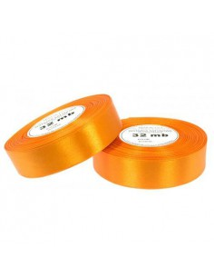 6mm WS8018 Wstążka satynowa pomarańczowa 32mb-5515