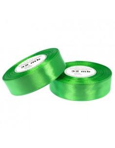 25mm WS8075 Wstążka satynowa zielona 32mb-5619