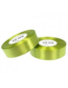 25mm WS8078 Wstążka satynowa ziel. jabłuszko 32mb-5625