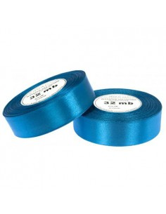 25mm WS8102 Wstążka satynowa brudna niebieska 32mb-5652