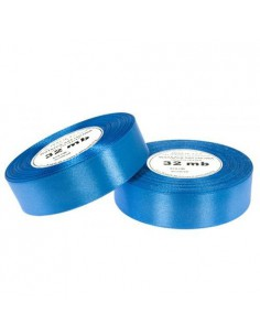 25mm WS8105 Wstążka satynowa niebieska 32mb-5658