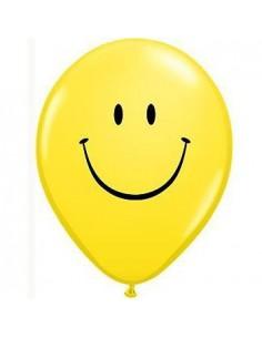 Balon GS110 pastel 12 żółty-nadruk UŚMIECH-6337