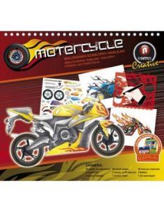 Malowanka mały szablon  naklejki Motocykle 2624-03-6426