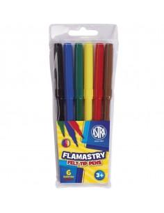 Pisaki flamastry 6 kolorów ASTRA-6546