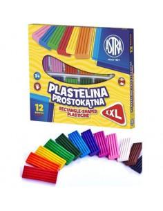 Plastelina prostokątna 12 kolorów ASTRA-6584