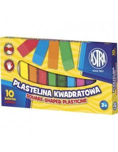Plastelina kwadratowa 10 kolorów ASTRA-6578