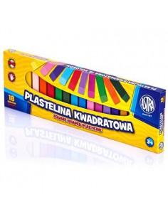 Plastelina kwadratowa 18 kolorów ASTRA-6580
