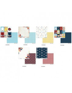 Papier dwustronny 30,5 x 30,5 cm - MARINE mix wzor-6940