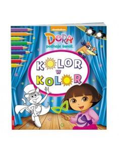 Kolorowanka DORA POZNAJE ŚWIAT kolor w kolor-6924