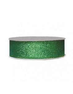 12mm WB7008 Wstążka brokatowa zieleń złota 32mb-7821