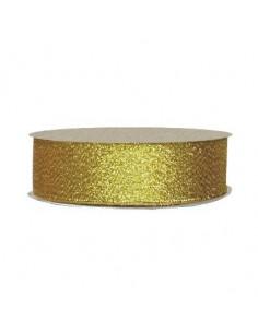 25mm WB7014 Wstążka brokatowa żółto złota 32mb-7825