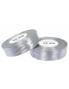 50mm WS8139 Wstążka satynowa jasna srebrna 32mb