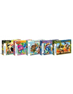 Puzzle 104 maxi elementy mix Clementoni