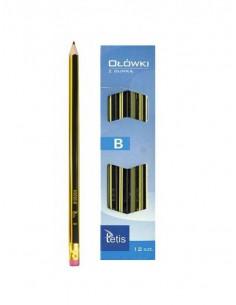 Ołówek z gumką B opakowanie 12 szt. KV050-B -3824