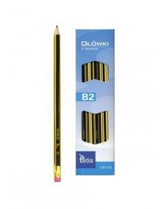 Ołówek z gumką 2B opakowanie 12 szt. KV050-B2-3825