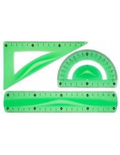 Zestaw geometryczny zielony A1 TETIS-1148
