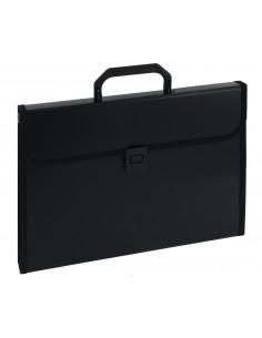 Aktówka z przekładkami z rączką 9112A czarna-2988