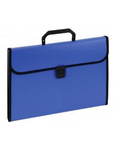 Aktówka z przekładkami z rączką 9112A niebieska-2989