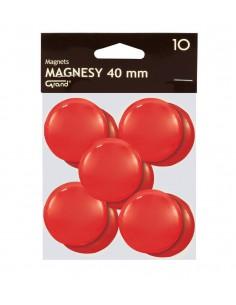 Magnes biurowy do tablic 40mm GRAND czerwony 10szt.
