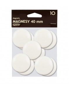 Magnes 40mm GRAND biały 10szt-2965
