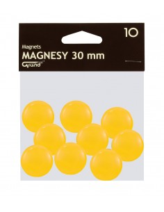 Magnes 30mm GRAND żółty 10szt-2964