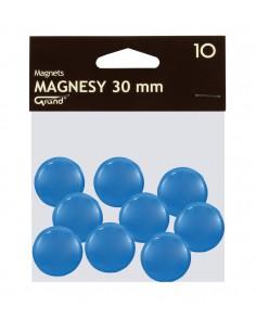 Magnes 30mm GRAND niebieski 10szt-2949