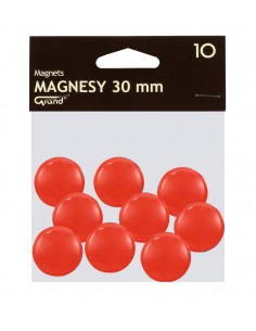 Magnes 30mm GRAND czerwony 10szt-2946
