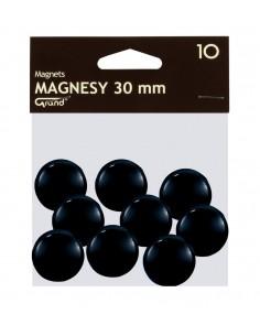 Magnes 30mmm GRAND czarny 10szt-2945