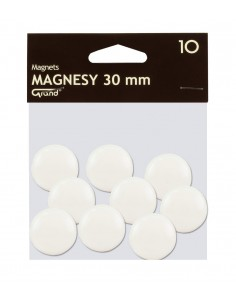 Magnes 30mm GRAND biały 10szt-2944