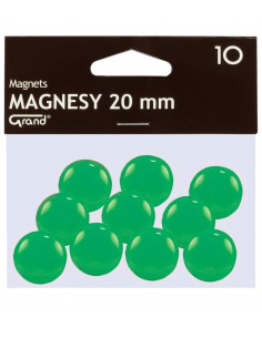 Magnes 20mm GRAND zielony 10szt-2942