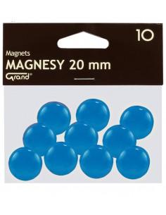 Magnes 20mm GRAND niebieski 10szt-2941