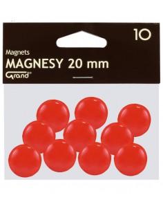 Magnes 20mm GRAND czerwony 10szt-2939