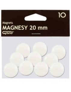 Magnes 20mm GRAND biały 10szt-2933
