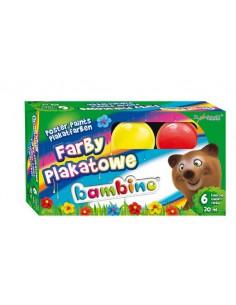 Farby plakatowe 6 kolorów BAMBINO 20ml standard-3127
