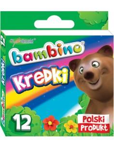 Kredki świecowe BAMBINO 12 kolor w pudełku karton-3159