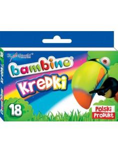 Kredki świecowe BAMBINO 18 kolorów -3160